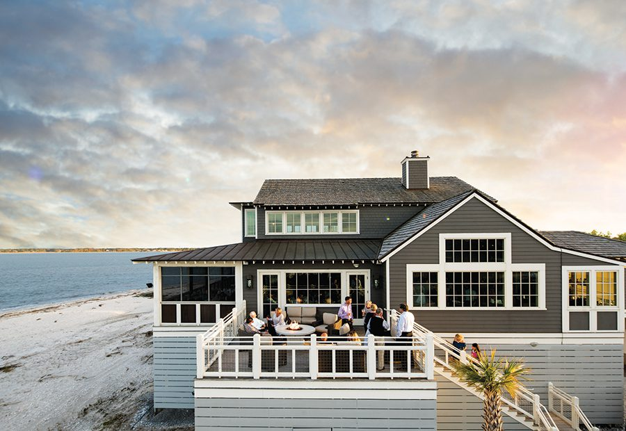 The Calibogue Club at Haig Point offers dinner with a view.